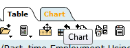 example of chart tab in Beyond 20/20 for generating charts and graphs