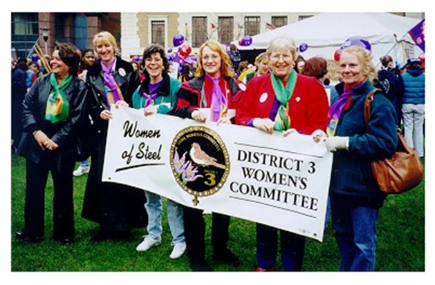 image of USW Women of Steel , International Women's Day March, District 3, Western Canada